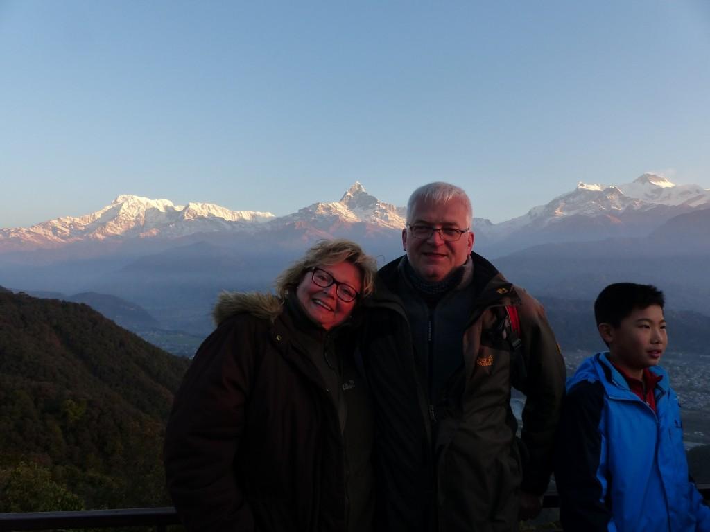 Wir vor dem Annapurna Massiv